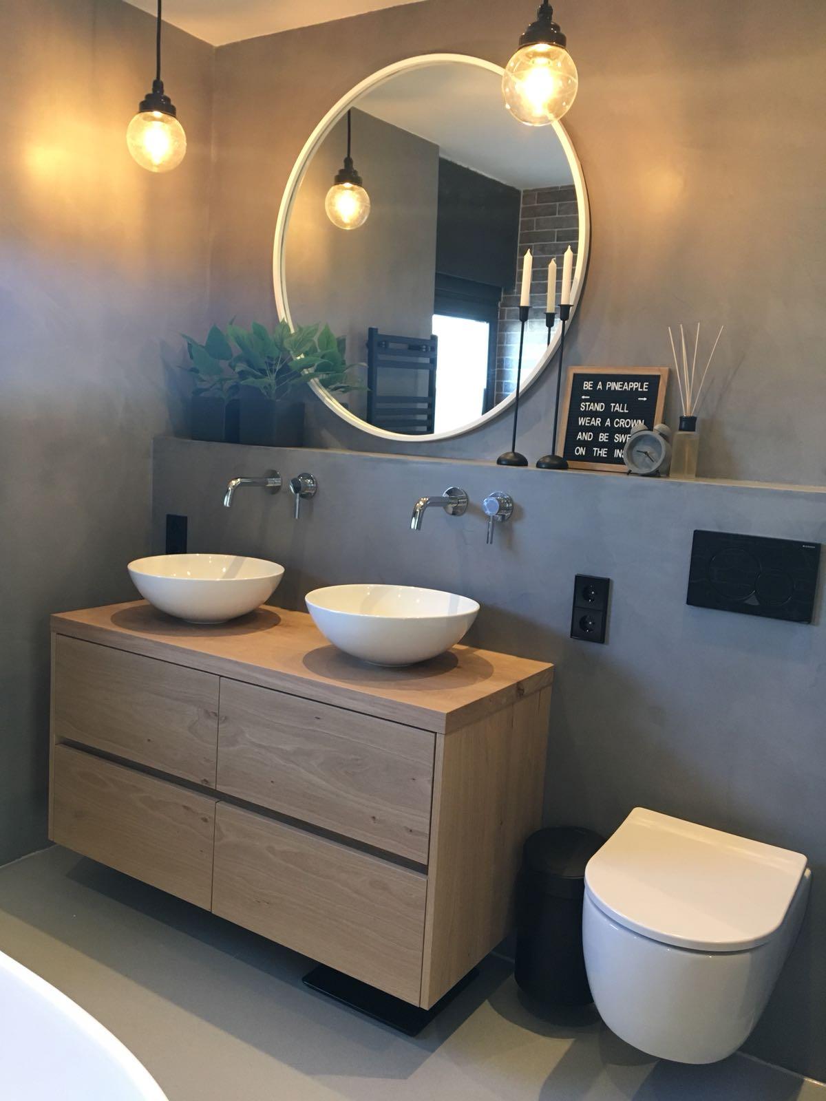 badkamer renovatie met beton cire bulder klusbedrijf. Black Bedroom Furniture Sets. Home Design Ideas