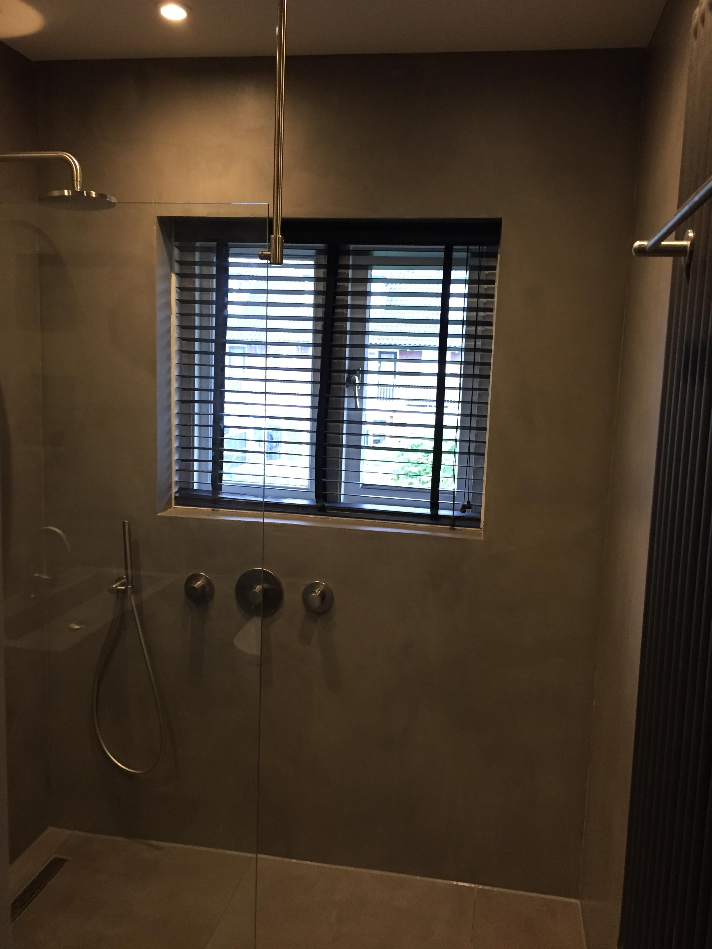 beton cire badkamer in Amstelveen